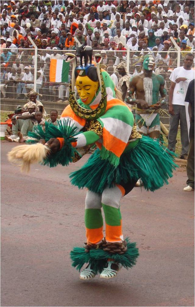 Masque danseur della Costa d'Avorio
